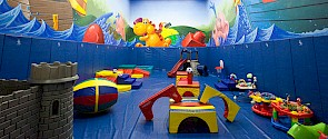 Indoor playground full of toys at Fountain Park Recreation Centre