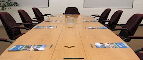 Boardroom meeting at Servus Place