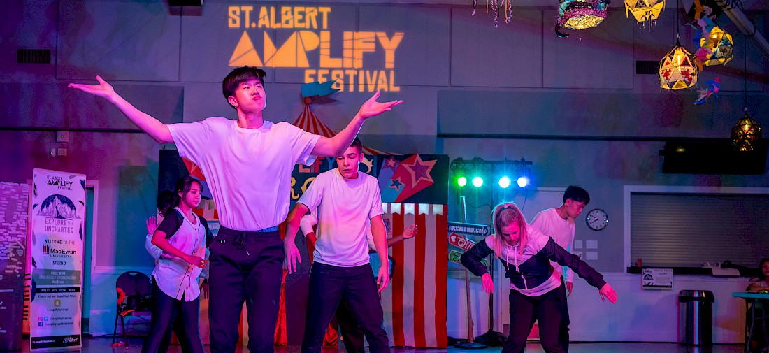 Dance group performs at the 2019 Amplify Festival