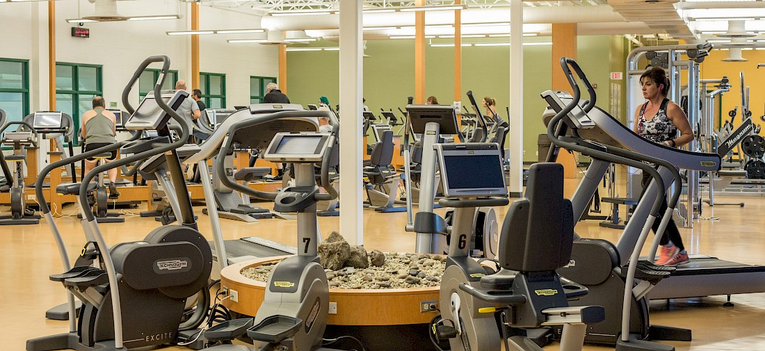Equipment in the fitness centre in Servus Place