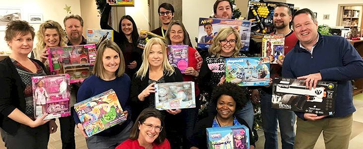 Assessment Services and Economic Development Employees with gifts for charity