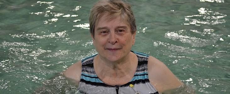 Liz Allchin swimming at Fountain Park Recreation Centre