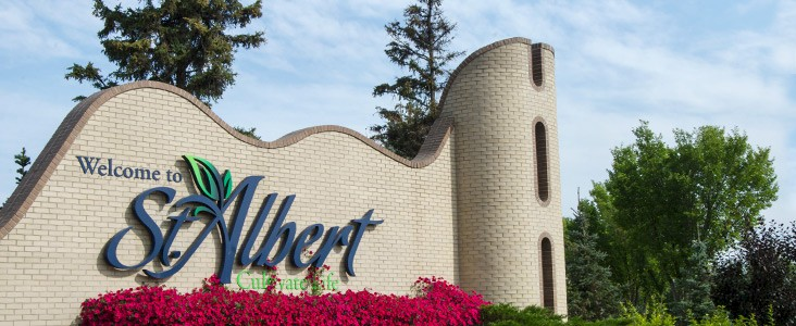 City of St. Albert welcome sign