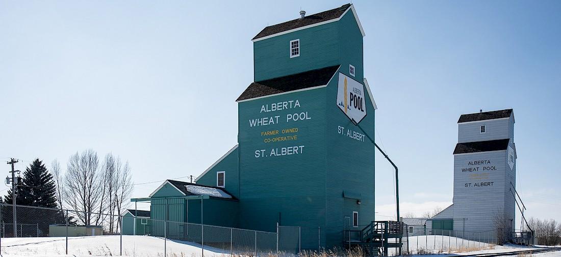 St Albert's historic Grain Elevator Park